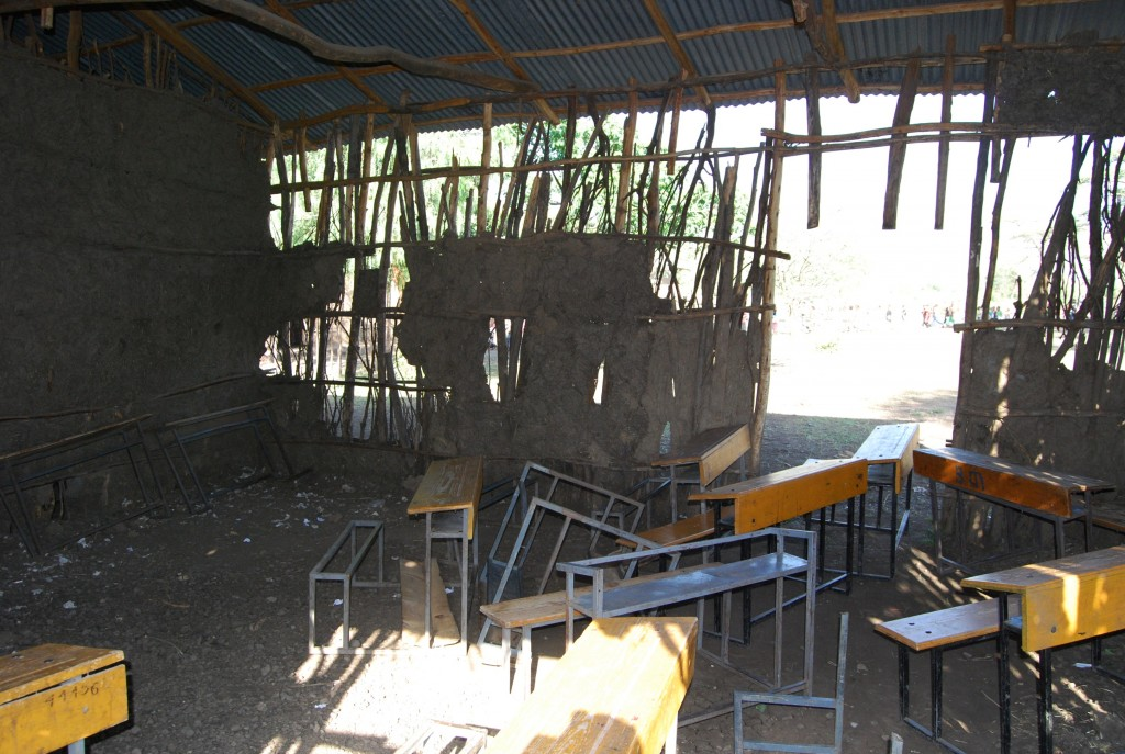 Old classroom from the inside