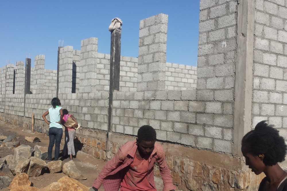 Two classroom blocks under way